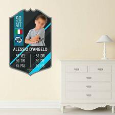 Adesivo Murale - Card Personalizzata FUT Player - Plug Calcio Cameretta Skin PS4