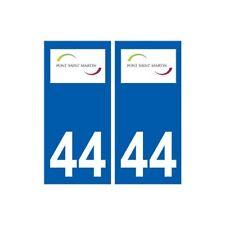 44 Pont-Saint-Martin logo ville autocollant plaque stickers -  Angles : droits