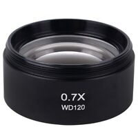 WD120 0.7X Trinocular Stereo Microscope Auxiliary Objective Lens Barlow Lens b7i
