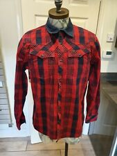 Mens G-Star Red Tailor PM Check Shirt Size XL Mint Condition Heavy Duty