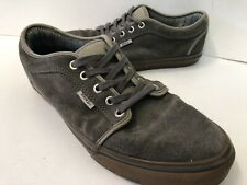 Mens Gray Suede Lace Up VANS Ultra Cushion Shoes Size 9.5