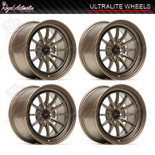 Ultralite UL12 Deep Dish Light Alloy Wheels 15x8.25 ET20 4x100 4x108 Bronze JDM