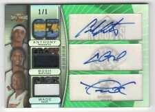 2007-08 Topps Triple Threads Relics Autos Emerald #11 Carmelo Bosh Wade #1/1
