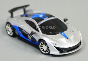 RC 1/43 Radio Control Micro RC McLAREN P1 GTR w/ LED Lights BLUE