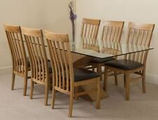 Oak Fixed Dining Tables Sets