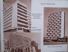 A18) planche ALGERIE ALGER buildings et gratte ciel d'Alger
