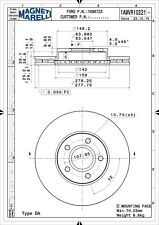 Disc Brake Rotor Front Magneti Marelli 1AMVR10221