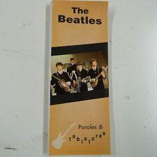 paroles & tablatures THE BEATLES
