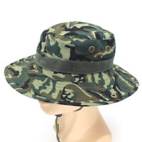 Bucket Hat Unisex Sun Camo Boonie Brim Hunting Fishing Outdoor Cap Wide Military