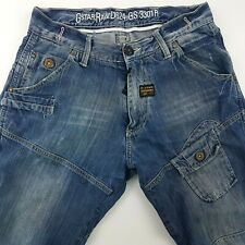 G-Star Raw RAFF ELWOOD Mens Jeans W31 L32 Blue Relaxed Loose Straight High Rise