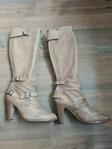 Belstaff Leather Womans Boots, Junglemaster , Size 7