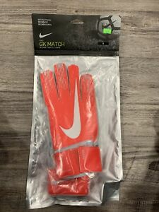 NIKE GK MATCH ADULT  Size 8 Red SOCCER GOALKEEPER GLOVES NEW in Package