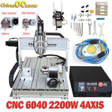 CNC 6040 2200W 4Axis Mach3 USB Router Engraving Cutting Drilling DIY Machine US