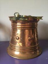 Antique. Copper & Brass Fireside Bucket. Garden Planter. Arts & Crafts. Nouveau