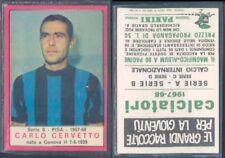 PISA RECUPERO FIGURINA CALCIATORI MIRA 1967//68 PIACERI//CERVETTO