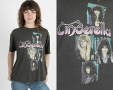 Vintage 80s Cinderella Shakes the USA Concert Tour Glam Metal Rock Band T Shirt
