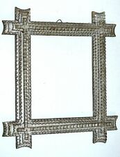 "Tramp Art Frame or Folk Art Hand Crafted Wooden Frame for Mirror 14,7"" x 13,3"""