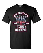 Let's Paahty Like 6-Time Champs New England Football Dt Adult T-Shirt Tee