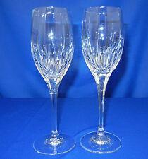"2 Mikasa Crystal 6oz 8 1/4"" Artic Lights Wines Glasses"