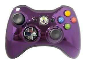 Official Microsoft Xbox 360 Purple Chrome Wireless Controller 1403 OEM gamepad