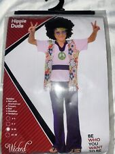 Boys 70's Fancy Dress Hippy Outfit Size 8-10 Years
