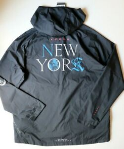 NIKE ESSENTIAL REPEL NYC NEW YORK MEN WOVEN HOODED RUNNING JACKET CQ7827-010 XL