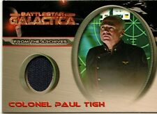 Battlestar Galactica Premiere Costume Card CC8 Colonel Paul Tigh