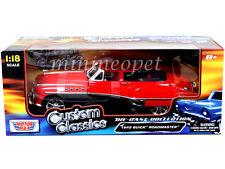MOTORMAX 79004 CUSTOM CLASSICS 1949 49 BUICK ROADMASTER 1/18 2TONE BLACK RED