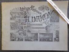 Rare Catalogue MAISON KRIEGER. DECORATION AMEUBLEMENTS 19e Meubles : 80 planches