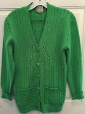 Vintage Rockabilly Sweater Cardigan PIN UP SPORT HADLEY 50's Women's Sz 14 Green