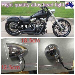Chrome billet aluminum bullet head light Harley Sportster XL DYNA Chopper Bobber