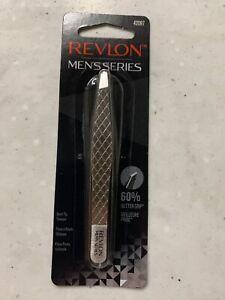 Revlon Men's Series Slant Tip Tweezer Stainless Steel Eyebrow Hair Removal 42097