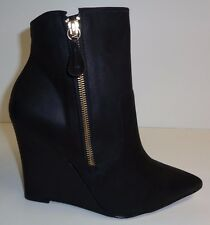 Steven Steve Madden Size 9.5 M METER Black Leather Ankle Boots New Womens Shoes