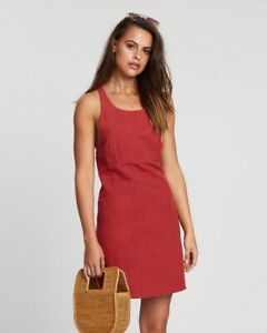 AUGUSTE Sunset Mini Dress In Red Sz 14 BNWT