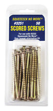 Squeeeeek No More  Scored Screws  Square  No. 8  3 in. L Zinc Plated  Yellow
