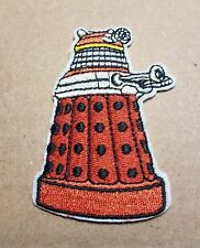Doctor Who Red Dalek Patch 3  inches tall