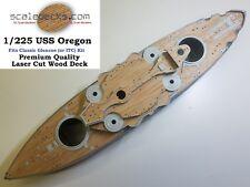 Wood Deck for 1/225 Uss Oregon (fits Glencoe/Itc kits) by Scaledecks [Lcd-81]