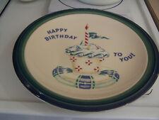 "PFALTZGRAFF ""Ocean Breeze"" Happy Birthday dinner plate rare 11"""