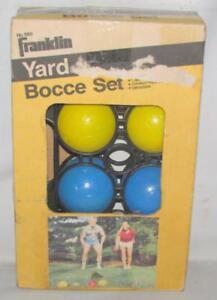 VINTAGE FRANKLIN SPORTS LAWN BOWLING BOCCE BALL SET MODEL 3302 ~119