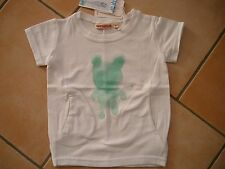 (X32) Imps & Elfs Baby T-Shirt mit Taschen und Teddy Druck & Logo Aufnäher gr.74