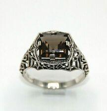 Rauchquarz RING  Rauchquarz 925 Sterling Silber  ANTIK STYLE  # 59