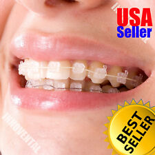 HUBIT Crystal Sapphire Ceramic Orthodontic Brackets Braces (MBT 3-3 12 Brackets)