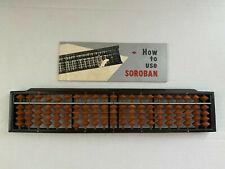 Vintage Tomoe Soroban 21 Column Abacus with instruction booklet