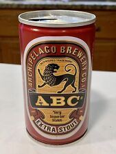 New listing Abc Extra Stout Crimped Steel, Pull Tab, Beer Can - Singapore - Empty, Wide Seam