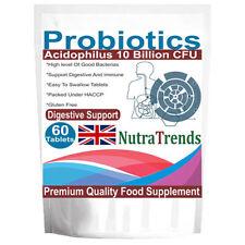 Probiotic Acidophilus 10 Billion live cultures, 60 tablets, Veg & Gluten free