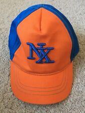 BNWOT Next Baseball/ Peaked Cap. Orange/ Royal Blue. Unisex. Age 3 - 24 Months