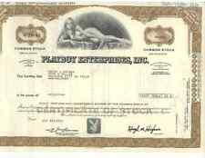 PLAYBOY Stock Certificate - AS IS - 100 Share Nice Art Collectible  Willy Ray