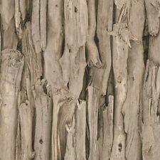 Rasch Driftwood Natural Wood Effect Wallpaper Paste the Wall Vinyl 473216