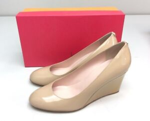 Kate Spade New York Armory Powder Patent Wedge Heel Pump Size 9.5 Round Toe