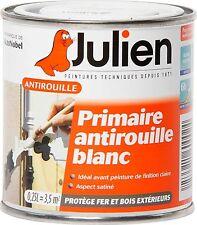 PEINTURE PRIMAIRE ANTIROUILLE BLANC 0.25L JULIEN protection anticorrosion métaux